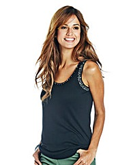 Jersey Vest with Embellishment Detail
