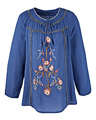 Embroidered Folk Blouse