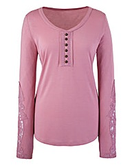 Lace Detail Jersey Top