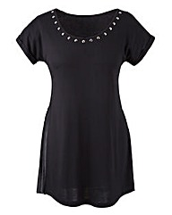 Longer Length Pleat Jersey Top