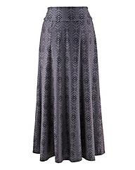 Print Jersey Skirt 29in