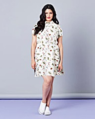Simply Be Ditsy Print Tea Dress