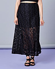 Simply Be Lace Maxi Skirt