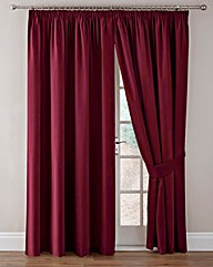 Thermal Velour Pencil Pleat Curtains