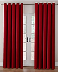Thermal Velour Eyelet Curtains