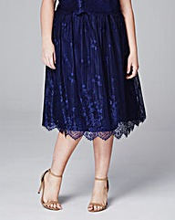 Little Mistress Elasticated Lace Skirt