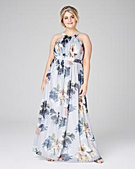 Little Mistress Printed Maxi Dress