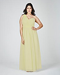 Little Mistress Off Shoulder Maxi Dress