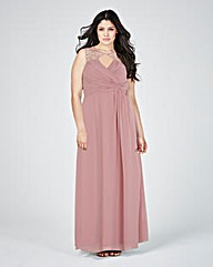 Little Mistress Wrap Maxi Dress