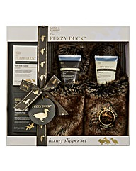 Fuzzy Duck Furry Slipper Gift Set