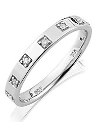 9ct Gold Ladies Diamond Wedding Band