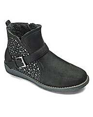 Sole Diva Jewelled Boots EEE Fit