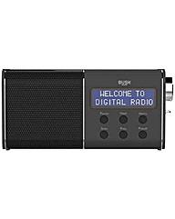 Bush Compact Rechargeable DAB/FM Radio