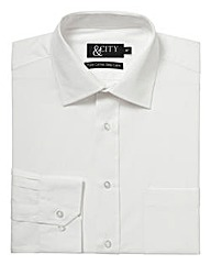&City Tall 100% Cotton Single Cuff Shirt