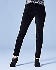 Velvet Slim Leg Jeans Short