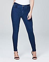 Chloe Let-Down Hem Skinny Jeans Reg