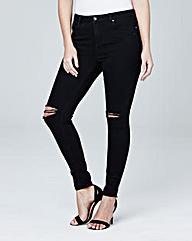 Chloe Distressed Skinny Jeans Short