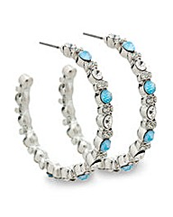 Mood Blue Opal Section Hoop Earring