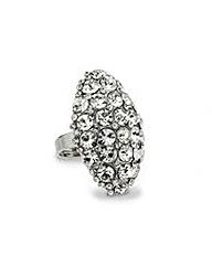 Mood Pave Crystal Diamond Shape Ring