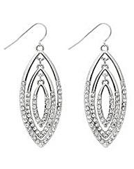 Mood Triple Crystal Drop Earrings