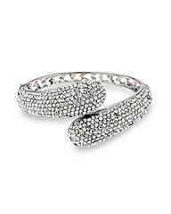 Mood Pave Crystal Overlap Bracelet