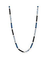 Mood Blue Beaded Rope Necklace