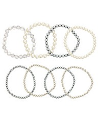 Mood Eight Row Pearl Bracelet Pack