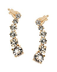 Mood Symmetrical Crystal Ear Cuffs