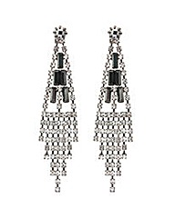 Mood Baguette Stone Chandelier Earring