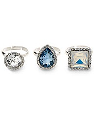Mood Three Pack Glacier Rings