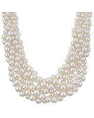 Mood Chunky Pearl Twist Collar Necklace
