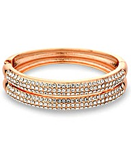 Mood Rose Gold Pave Crystal Bracelet