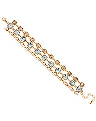Mood Three Row Crystal Pearl Bracelet