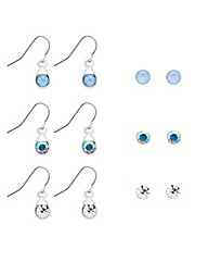 Mood Six Pack Stud And Drop Earring Set