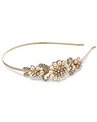 Mood Pearl Flower Side Detail Headband