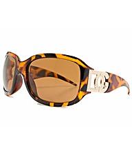 Tortoise Frame Smoke Lens Sunglasses