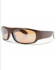 Viva La Diva Cassey Brown Sunglasses