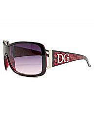 DG Designer Wraparound Red Sunglasses