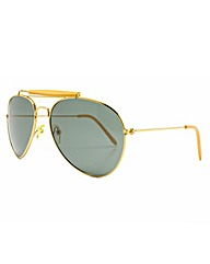 Aviator Yellow Sunglasses