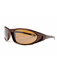 Viva La Diva Wraparound Brown Sunglasses