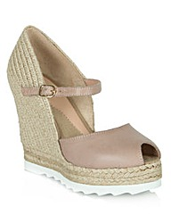 London Bridge Raffia Wedge Sandal