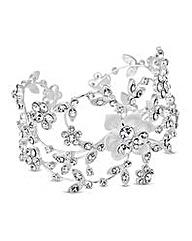 Alan Hannah floral crystal swirl cuff