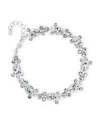 Jon Richard crystal bubble link bracelet