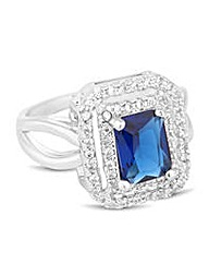 Jon Richard Blue square surround ring
