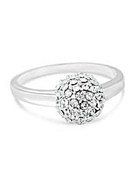Simply Silver crystal ball ring