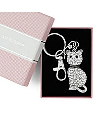 Jon Richard crystal cat keyring