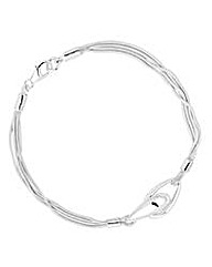 Simply Silver interlink bracelet