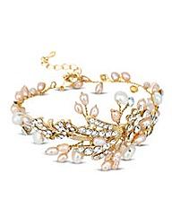Alan Hannah pearl crystal spray bracelet