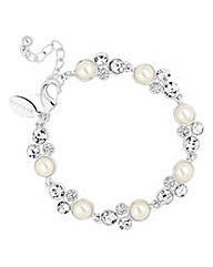 Alan Hannah pearl and crystal bracelet