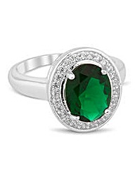 Jon Richard Green oval Kate ring